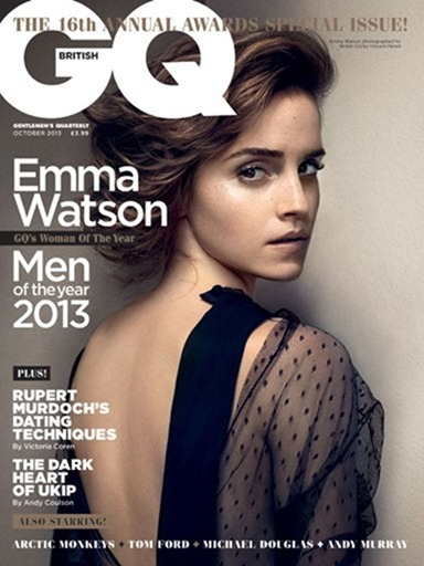 GQ UK- Emma Watson in Woman of the Year by Vincent Peters. Penny Lovell, October 2013, www.imageamplified.com, Image Amplified