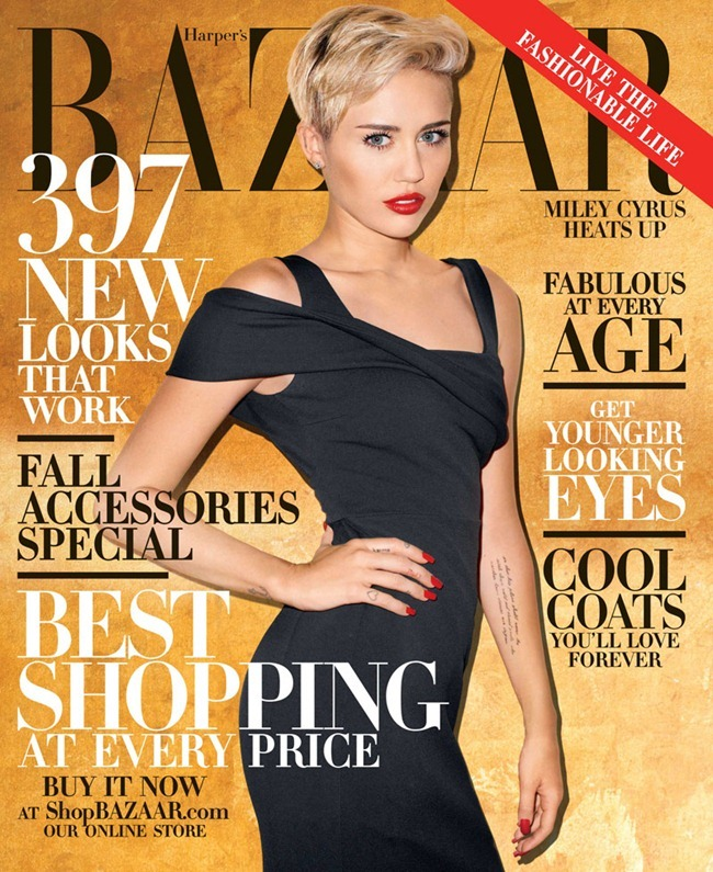 PREVIEW- Miley Cyrus for Harper's Bazaar Magazine, October 2013 by Terry Richardson. www.imageamplified.com, Image Amplified (1)