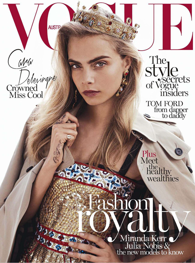 VOGUE AUSTRALIA- Cara Delevigne in Queen Cara by Benny Horne. Christine Centenera, October 2013, www.imageamplified.com, Image Amplified (9)