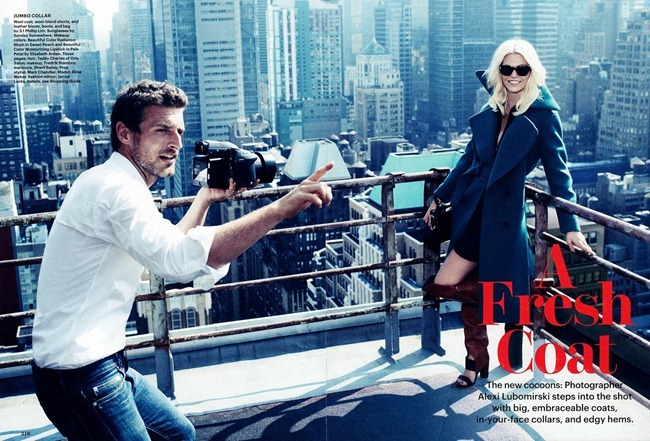 ALLURE MAGAZINE- Aline Weber & Alexi Lubomirski in A Fresh Coat by Alexi Lubomirski. Jarrod Lacks, October 2013, www.imageamplified.com, Image Amplified