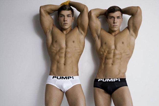 MASCULINE DOSAGE- Rubin & Reval Minnekhanov in Pump! Underwear by Rick Day. www.imageamplified.com, Image Amplified