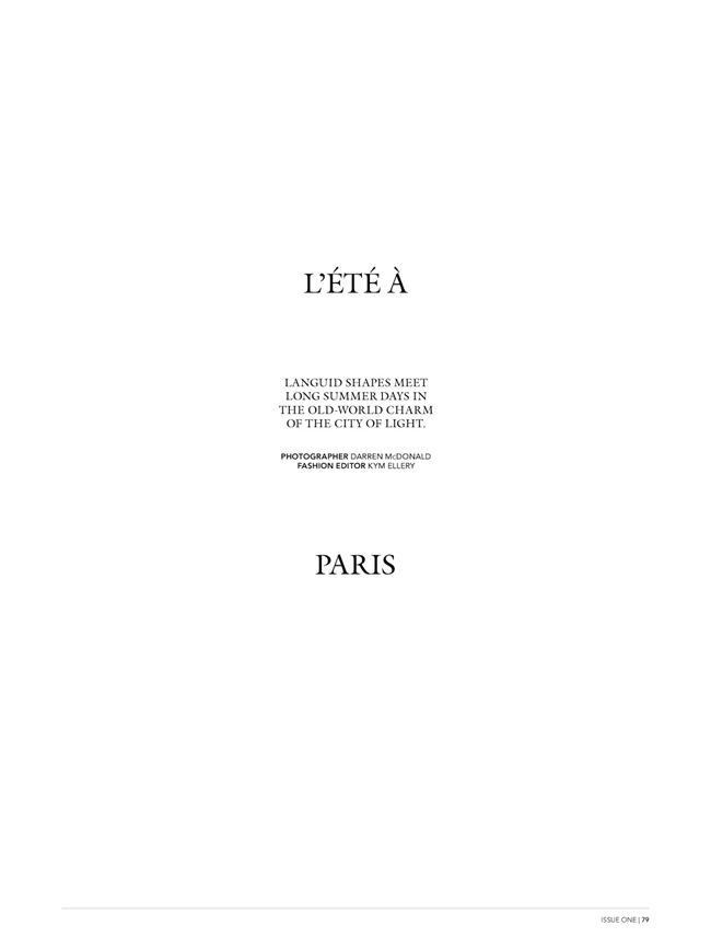 MISS VOGUE AUSTRALIA- Hannah Holman in L'ete A Paris by Darren Mcdonald. Kym Ellery, www.imageamplified.com, Image Amplified (5)