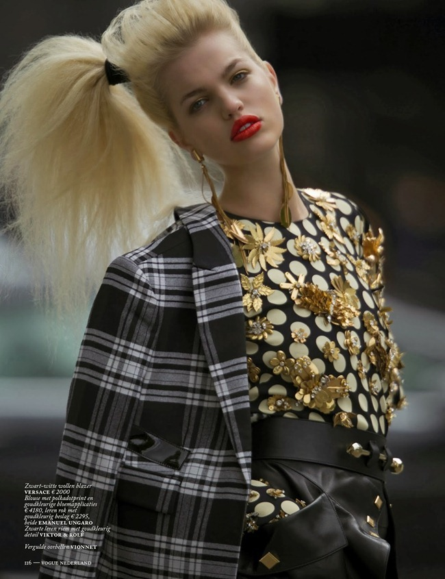 VOGUE NETHERLANDS- Daphne Groenveld in Clash of the Tartans by Hans Feurer. Marije Goekoop, October 2013, www.imageamplified.com, Image Amplified