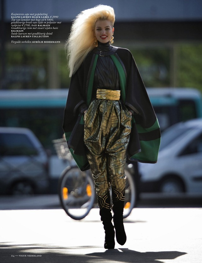 VOGUE NETHERLANDS- Daphne Groenveld in Clash of the Tartans by Hans Feurer. Marije Goekoop, October 2013, www.imageamplified.com, Image Amplified (5)