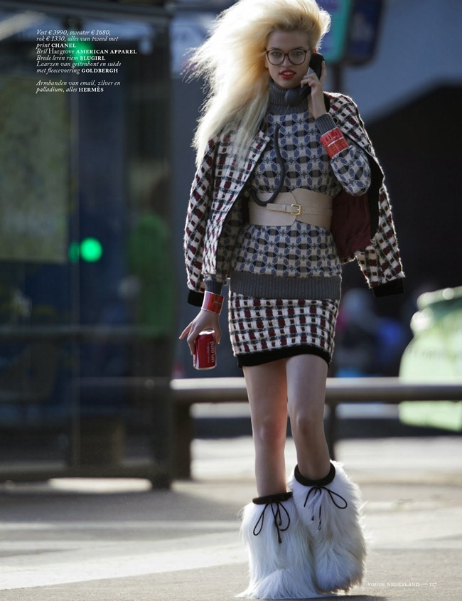 VOGUE NETHERLANDS- Daphne Groenveld in Clash of the Tartans by Hans Feurer. Marije Goekoop, October 2013, www.imageamplified.com, Image Amplified (7)