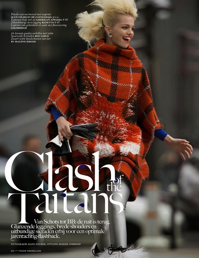 VOGUE NETHERLANDS- Daphne Groenveld in Clash of the Tartans by Hans Feurer. Marije Goekoop, October 2013, www.imageamplified.com, Image Amplified (1)