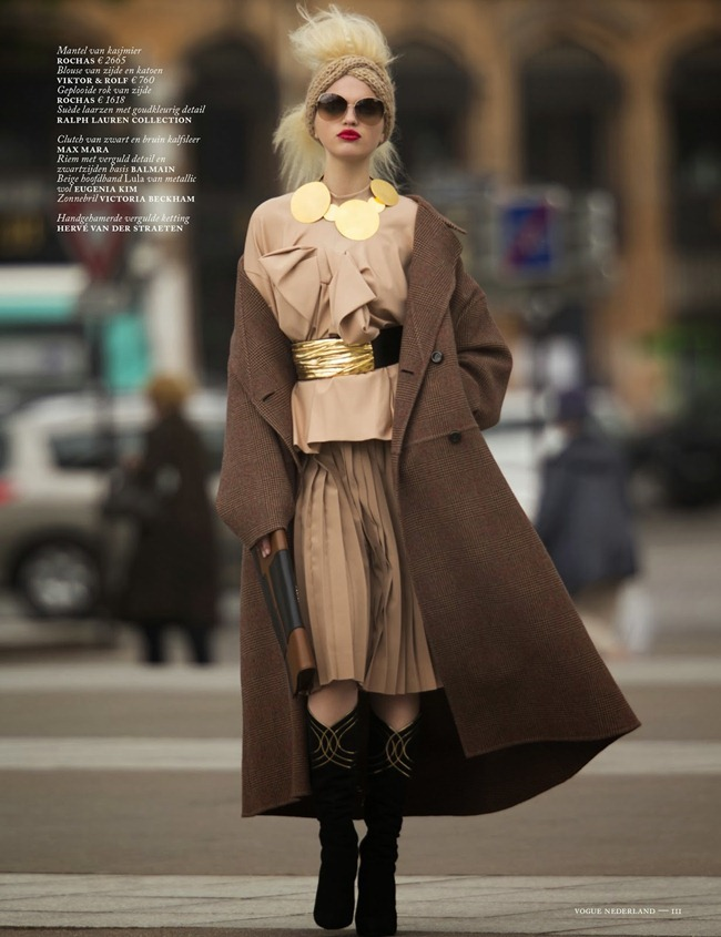 VOGUE NETHERLANDS- Daphne Groenveld in Clash of the Tartans by Hans Feurer. Marije Goekoop, October 2013, www.imageamplified.com, Image Amplified (2)