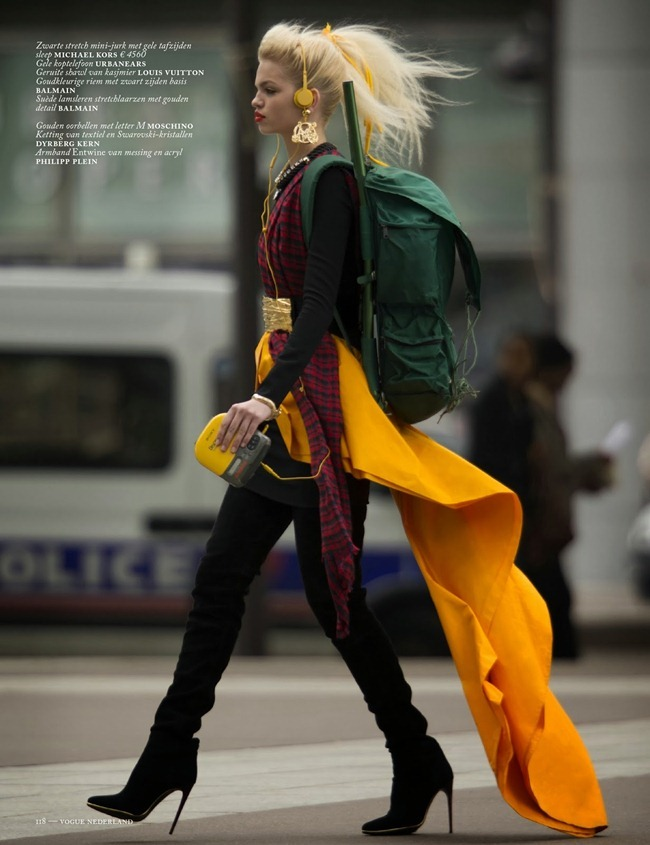 VOGUE NETHERLANDS- Daphne Groenveld in Clash of the Tartans by Hans Feurer. Marije Goekoop, October 2013, www.imageamplified.com, Image Amplified (8)