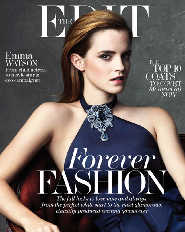 THE EDIT MAGAZINE Emma Watson in Style & Substance by Bjorn Looss. Natalie Brewster, September 2013, www.imageamplified.com, Image Amplified (1)
