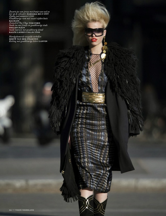 VOGUE NETHERLANDS- Daphne Groenveld in Clash of the Tartans by Hans Feurer. Marije Goekoop, October 2013, www.imageamplified.com, Image Amplified (3)