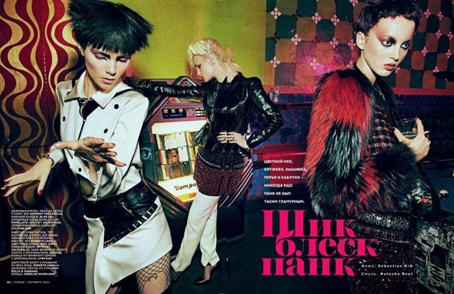 VOGUE RUSSIA Agnes Nabuurs & Charlotte Tomas in Chic Shine Punk by Sebastian Kim. Natasha Royt, October 2013, www.imageamplified.com, Image Amplified (3)