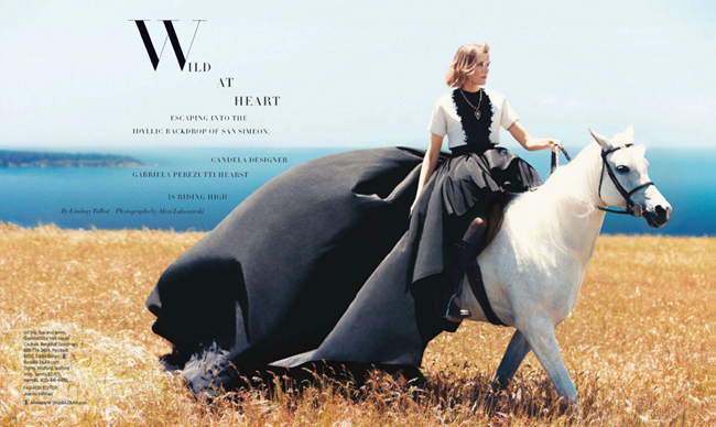 HARPER'S BAZAAR MAGAZINE- Gabriela Perezutti in Wild At Heart by Alexi Lubomirski. Joanna Hillman, October 2013, www.imageamplified.com, Image Amplified