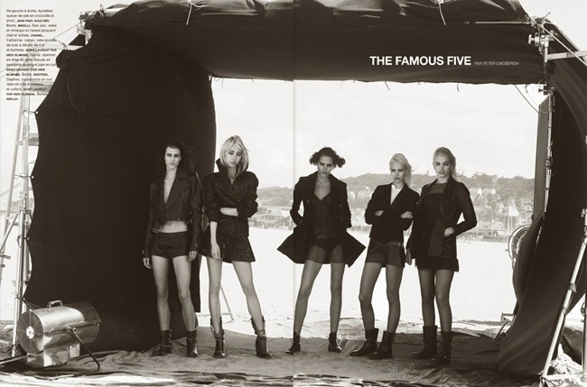 NUMERO MAGAZINE- The Famous Five by Peter Lindbergh. Irina Marie, October 2013, www.imageamplified.com, Image Amplified