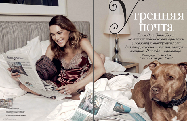 TATLER RUSSIA- Erin Wasson in Morning Post by Walter Chin. Christopher Niquet, October 2013, www.imageamplified.com, Image Amplified