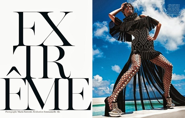VOGUE PARIS- Amanda Murphy & Saskia de Brauw in Extreme by Mario Sorrenti. Emmanuelle Alt, October 2013, www.imageamplified.com, Image Amplified
