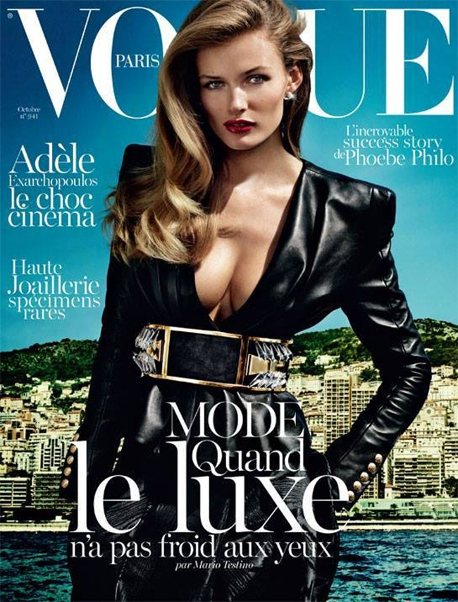 VOGUE PARIS- Anja Rubik & Edita Vilkeviciute in French Riviera by Mario Testino. Emmanuelle Alt, October 2013, www.imageamplified.com, Image Amplified