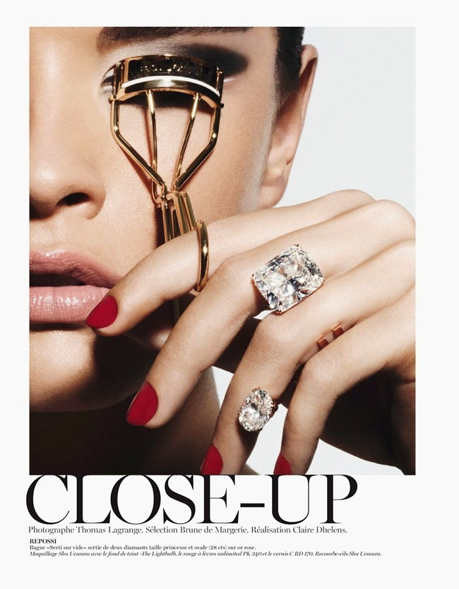 VOGUE PARIS- Crystal Renn in Close-Up by Thomas Lagrange. Claire Dehlens, October 2013, www.imageamplified.com, Image Amplified