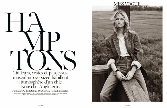VOGUE PARIS- Anna Luisa Ewers in Hamptons by Josh Olins. Geraldine Saglio, October 2013, www.imageamplified.com, Image Amplified