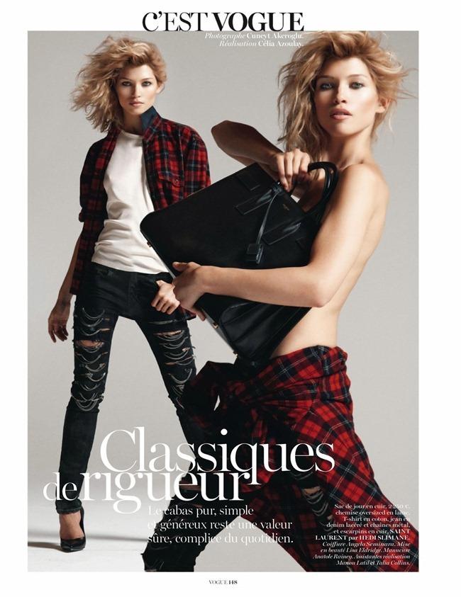 VOGUE PARIS- Hana Jirickova in C'Est Vogue by Cuneyt Akeroglu. Celia Azoulay, October 2013, www.imageamplified.com, Image Amplified