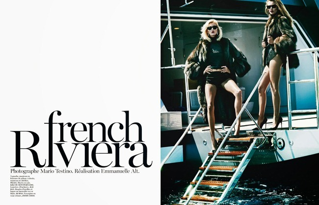 VOGUE PARIS- Anja Rubik & Edita Vilkeviciute in French Riviera by Mario Testino. Emmanuelle Alt, October 2013, www.imageamplified.com, Image Amplified (3)
