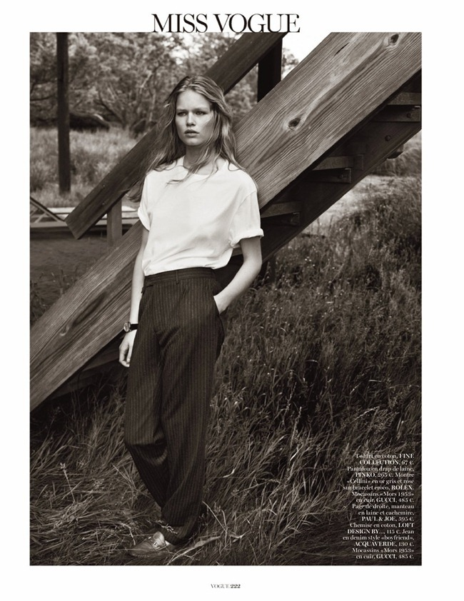 VOGUE PARIS- Anna Luisa Ewers in Hamptons by Josh Olins. Geraldine Saglio, October 2013, www.imageamplified.com, Image Amplified (1)