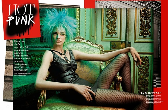 GLAMOUR ITALIA- Jessica Pitti in Hot Punk by Sandrine Dulermo & Michael Labica. Laurent Dombrowicz, October 2013, www.imageamplified.com, Image Amplified
