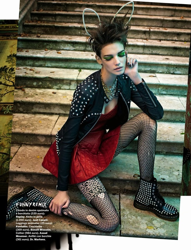 GLAMOUR ITALIA- Jessica Pitti in Hot Punk by Sandrine Dulermo & Michael Labica. Laurent Dombrowicz, October 2013, www.imageamplified.com, Image Amplified (6)
