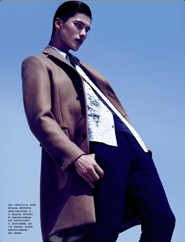 NUMERO HOMME CHINA- Dae Na by Bruno Staub. Jean Michel Clerc, Fall 2013, www.imageamplified.com, Image Amplified