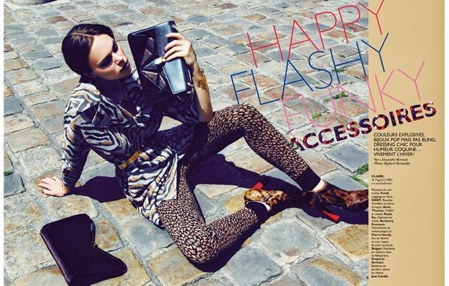 GRAZIA FRANCE- Claire Collins in Happy Flashy Funky Accessoires by Richard Bernardin. Alexandera Bernard, September 2013, www.imageamplified.com, Image Amplified