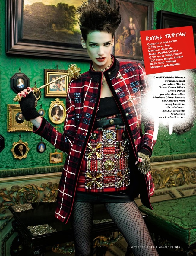 GLAMOUR ITALIA- Jessica Pitti in Hot Punk by Sandrine Dulermo & Michael Labica. Laurent Dombrowicz, October 2013, www.imageamplified.com, Image Amplified (7)