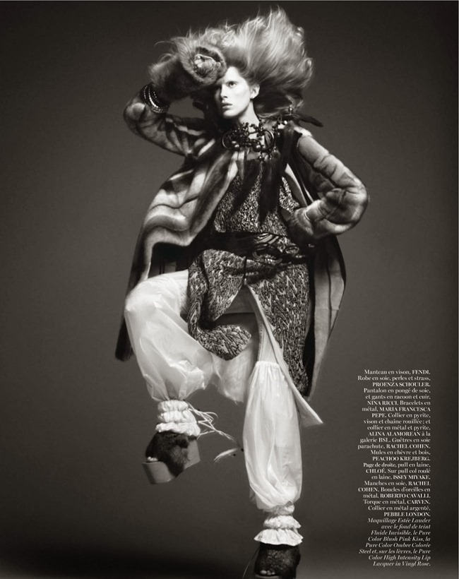 VOGUE PARIS- Iselin Steiro in Tribal by David Sims. Marie Chaix, October 2013, www.imageamplified.com, Image Amplified (2)