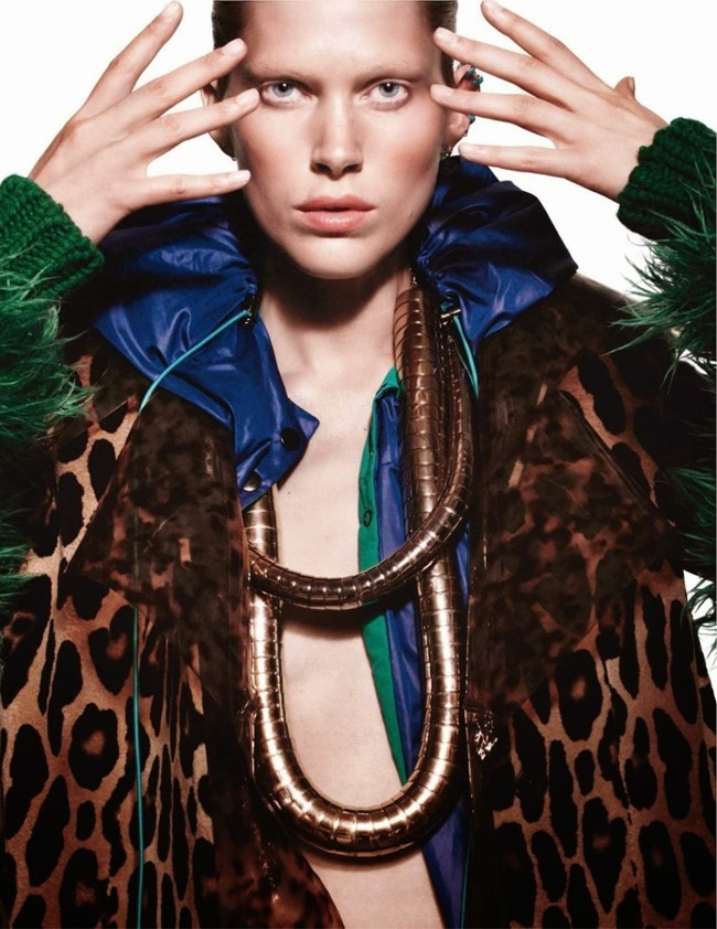 VOGUE PARIS- Iselin Steiro in Tribal by David Sims. Marie Chaix, October 2013, www.imageamplified.com, Image Amplified (4)
