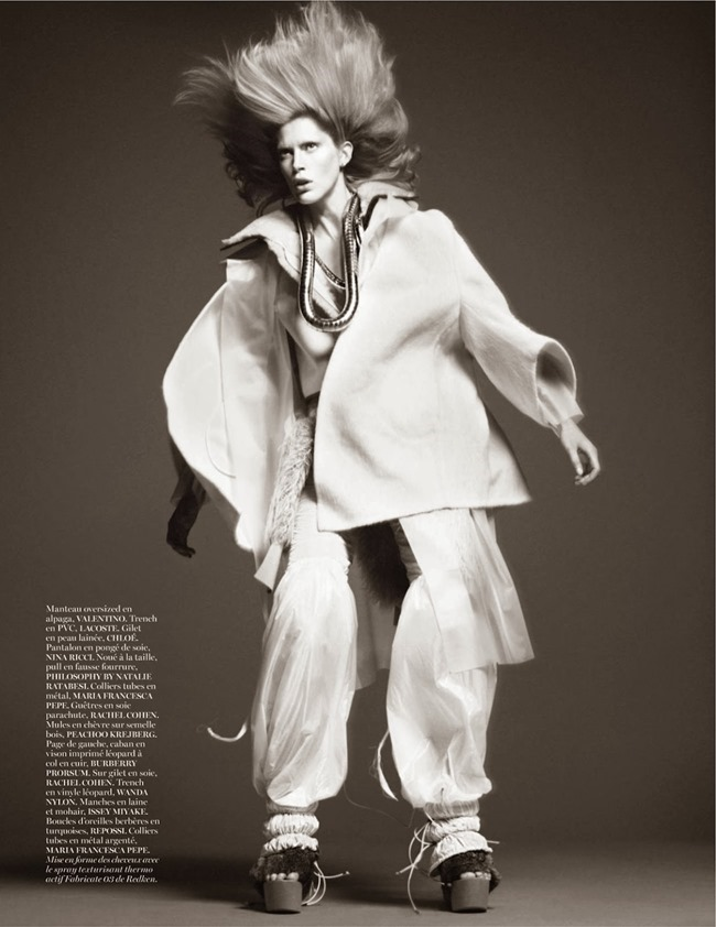 VOGUE PARIS- Iselin Steiro in Tribal by David Sims. Marie Chaix, October 2013, www.imageamplified.com, Image Amplified (5)