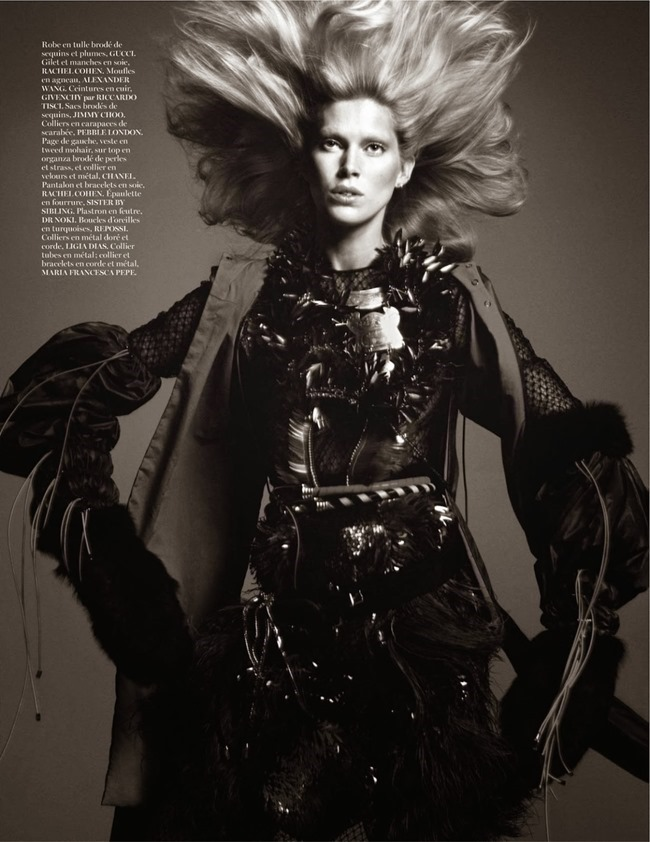 VOGUE PARIS- Iselin Steiro in Tribal by David Sims. Marie Chaix, October 2013, www.imageamplified.com, Image Amplified (7)