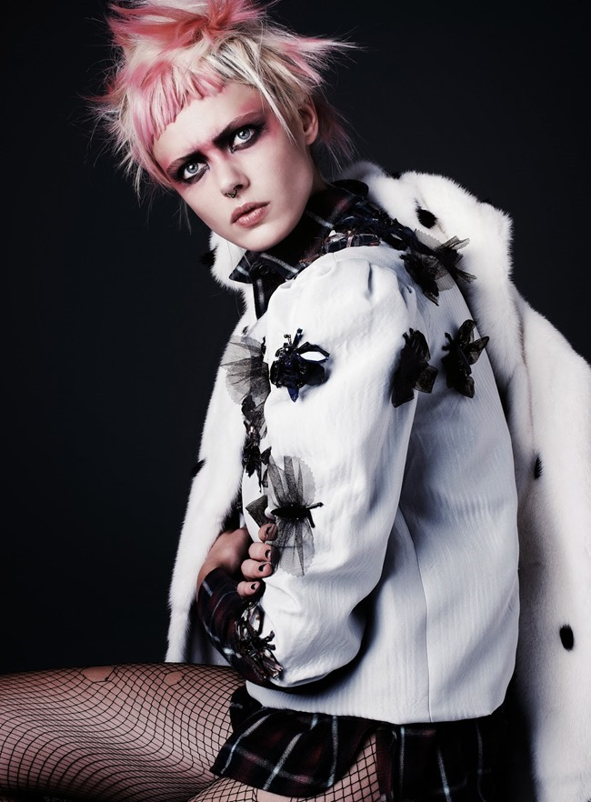 FLAIR MAGAZINE- Frida Gustavsson in Punk Attitude by Steven Pan. Sissy Vian, Fall 2013, www.imageamplified.com, Image Amplified (3)
