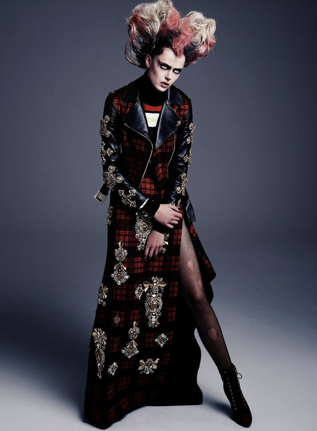 FLAIR MAGAZINE- Frida Gustavsson in Punk Attitude by Steven Pan. Sissy Vian, Fall 2013, www.imageamplified.com, Image Amplified (6)