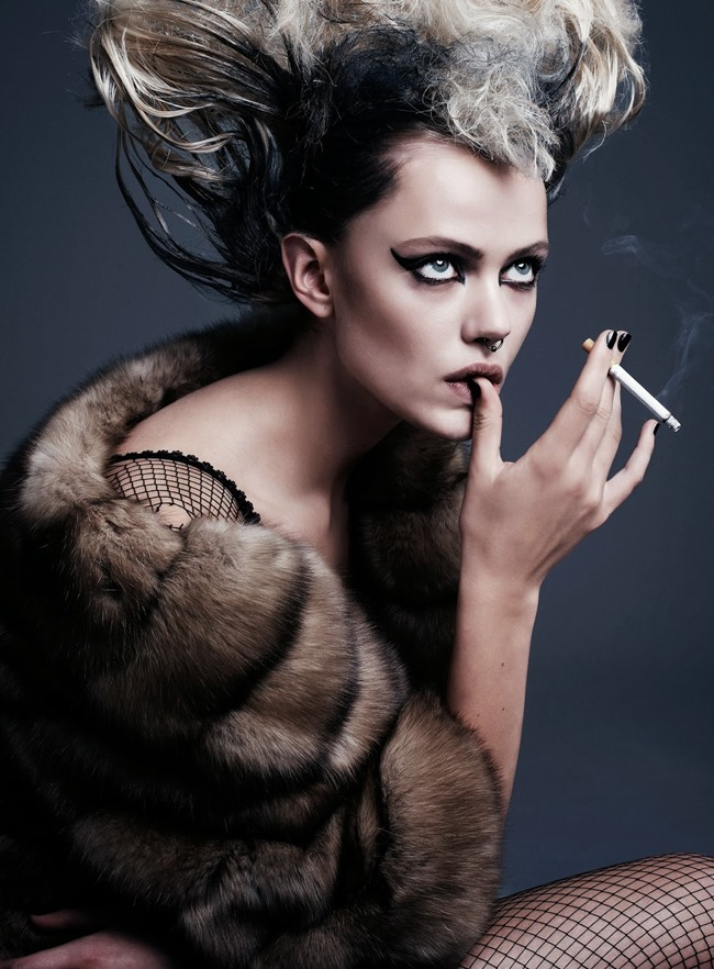 FLAIR MAGAZINE- Frida Gustavsson in Punk Attitude by Steven Pan. Sissy Vian, Fall 2013, www.imageamplified.com, Image Amplified (9)