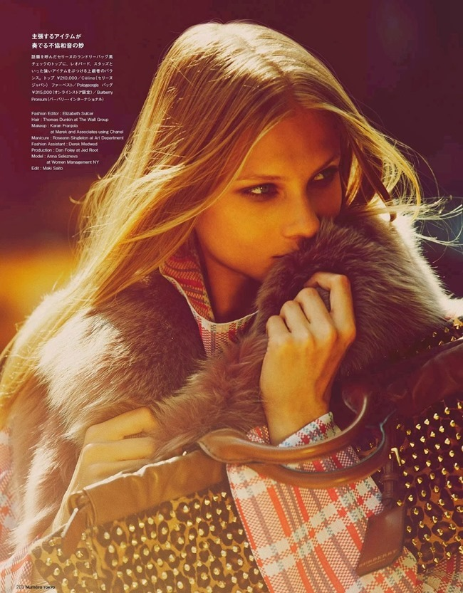 NUMERO TOKYO- Anna Selezneva in Plaid Plays by Guy Aroch. Elizabeth Sulcer, November 2013, www.imageamplified.com, Image Amplified (12)