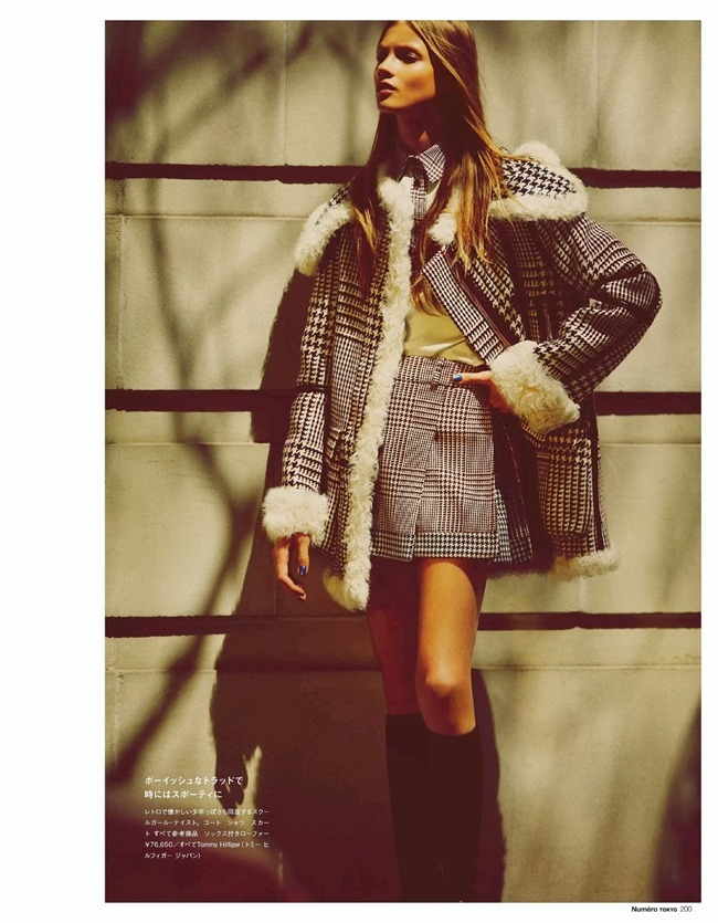 NUMERO TOKYO- Anna Selezneva in Plaid Plays by Guy Aroch. Elizabeth Sulcer, November 2013, www.imageamplified.com, Image Amplified (9)