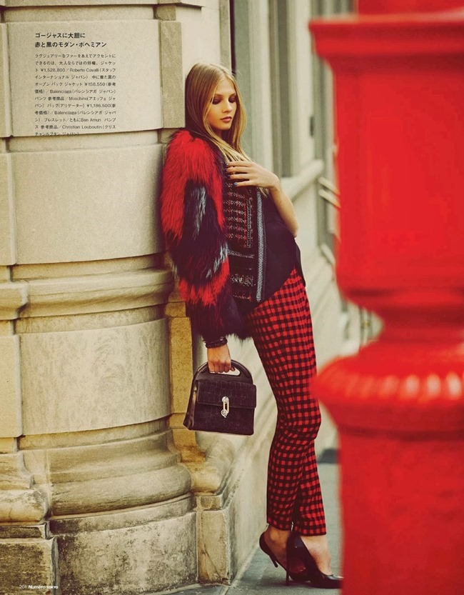 NUMERO TOKYO- Anna Selezneva in Plaid Plays by Guy Aroch. Elizabeth Sulcer, November 2013, www.imageamplified.com, Image Amplified (10)