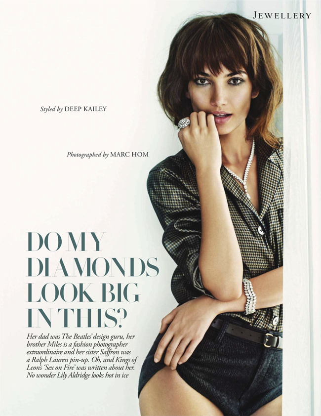 TATLER UK- Lily Aldridge in Do My Diamonds Look Big In This by Marc Hom. Deep Kailey, November 2013, www.imageamplified.com, Image Amplified (2)