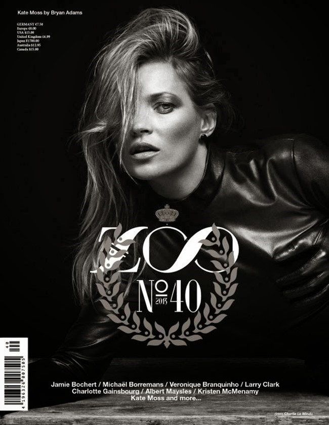 ZOO MAGAZINE- Kate Moss by Bryan Adams. Fall 2013, www.imageamplified.com, Image Amplified