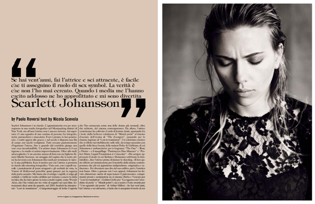 VOGUE ITALIA- Scarlett Johansson by Paolo Roversi. October 2013, www.imageamplified.com, Image Amplified