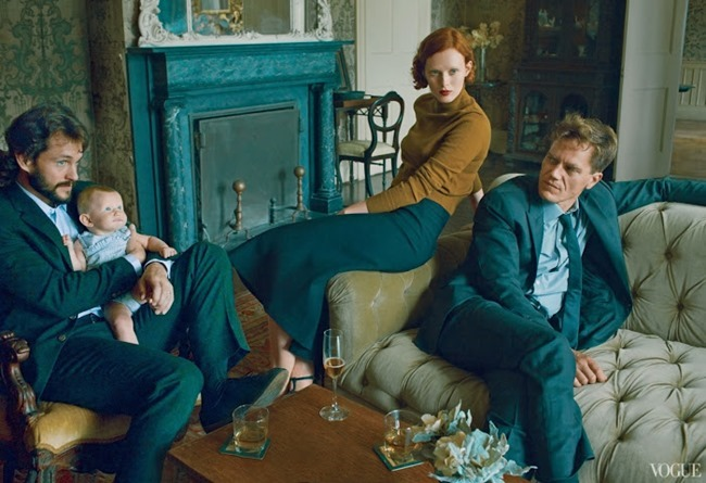 VOGUE MAGAZINE- Karen Elson, Hugh Dancy & Michael Shannon in The Other Man by Annie Leibovitz. October 2013, www.imageamplified.com, Image Amplified (3)