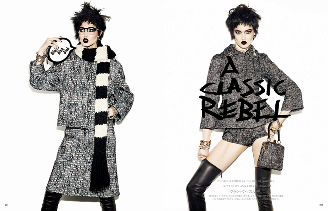 VOGUE JAPAN- Lindsey Wixson in A Classic Rebel by Giampaolo Sgura. Anna Dello Russo, November 2013, www.imageamplified.com, Image Amplified