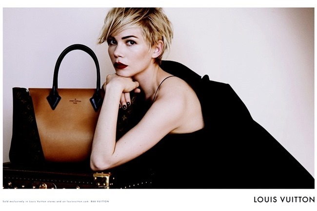 CAMPAIGN- Michelle Williams for Louis Vuitton Handbags Fall 2013 by Peter Lindbergh. www.imageamplified.com, Image Amplified