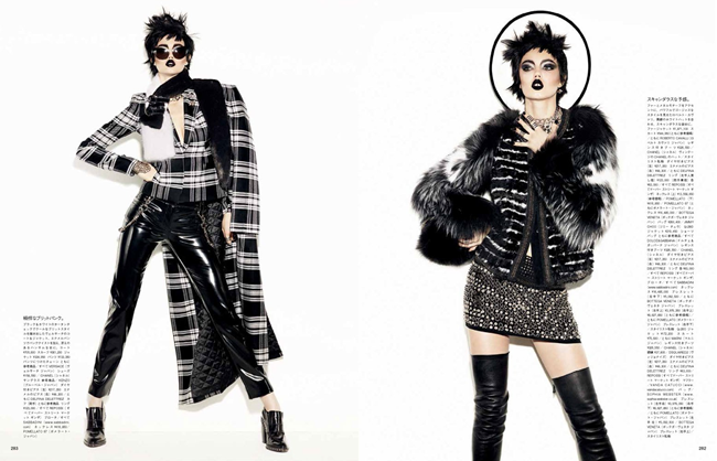 VOGUE JAPAN- Lindsey Wixson in A Classic Rebel by Giampaolo Sgura. Anna Dello Russo, November 2013, www.imageamplified.com, Image Amplified (1)