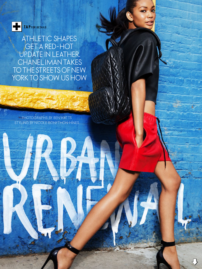 ELLE AUSTRALIA- Chanel Iman in Urban Renewal by Ben Watts. Nicole Bonython-Hines, October 2013, www.imageamplified.com, image Amplified