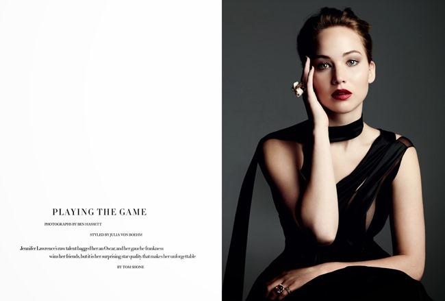 HARPER'S BAZAAR UK- Jennifer Lawrence in Playing The Game by Ben Hassett. Julia von Boehm, November 2013, www.imageamplified.com, Image Amplified (1)