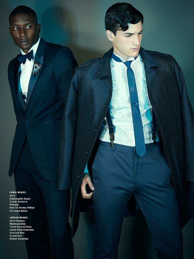 INSTINCT MAGAZINE- Edwin Gill, Jordan Redalado & Luca Schmitz in Legends of the Fall by Vincent Dilio. November 2013, Eric Launder, www.imageamplified.com, Image Amplified (1)